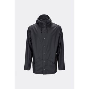 Černá unisex bunda s vysokou voděodolností Rains Jacket, velikost XXS/XS