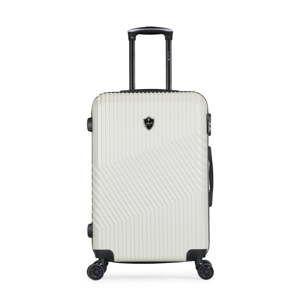 Světle šedý cestovní kufr na kolečkách GENTLEMAN FARMER Sento Valise Weekend, 64 l