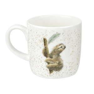 Sada 6 hrnků zkostního porcelánu Royal Worcester Sloth, 310 ml