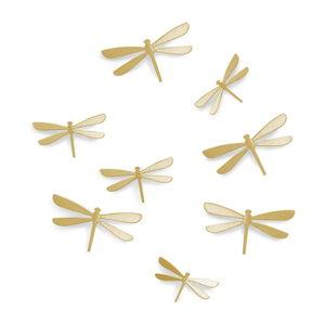 Sada 8 nástěnných samolepek ve zlaté barvě Umbra Dragonfly