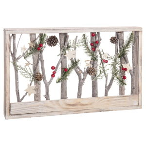 Vánoční dekorace Unimasa Panel Trunks, šířka43cm