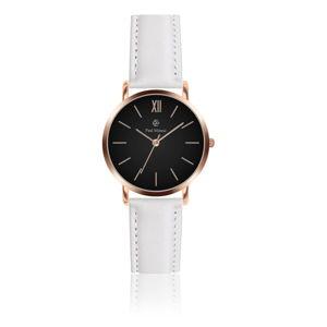 Dámské hodinky s páskem z pravé kůže v bílé barvě Paul McNeal Susmio