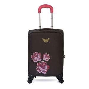 Černé kabinové zavazadlo na 4 kolečkách LPB Joanna, 40l