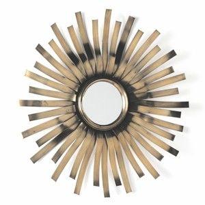 Nástěnné zrcadlo s detaily ve zlaté barvě Thai Natura Melden