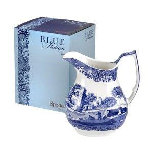 Bílomodrý porcelánový džbánek Spode Blue Italian, 850 ml