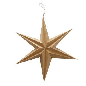 Hnědá vánoční závěsná dekorace Boltze Kassia