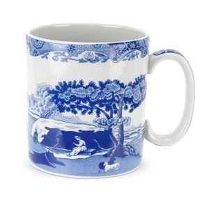 Sada 4 bílomodrých porcelánových hrnků Spode Blue Italian, 250 ml