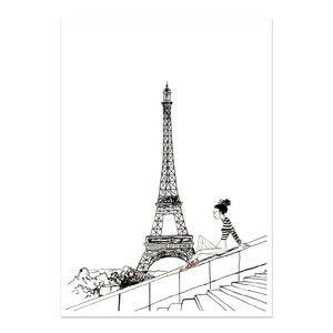 Plakát Leo La Douce Un Jour A Paris, 21x29,7cm