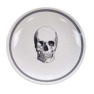 Černo-bílá miska Tokyo Design Studio Skull Bald, ø 24,5cm