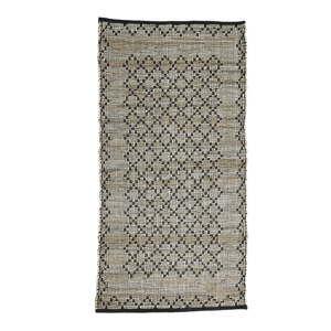 Šedý kožený koberec Simla, 170x130cm
