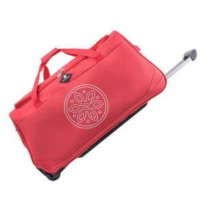 Červená cestovní taška na kolečkách GERARD PASQUIER Miretto, 91 l