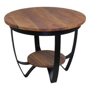 Konferenční stolek s deskou z recyklovaného teakového dřeva HSM collection Susan, ⌀55cm