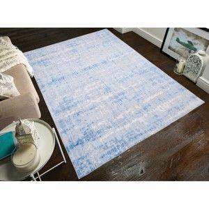 Světle modrý koberec odolný proti skvrnám Webtappeti Abstract, 120x180cm