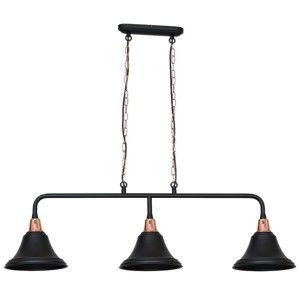 Černé závěsné svítidlo Tubus Trio
