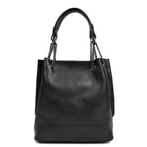 Černá kožená kabelka Isabella Rhea Stefano