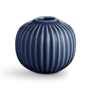 Tmavě modrý porcelánový svícen Kähler Design Hammershoi, ⌀ 7,5 cm