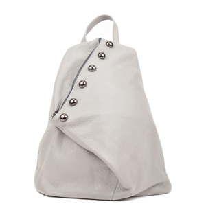 Šedý dámský kožený batoh Luisa Vannini Cole