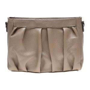 Béžová kožená taška přes rameno Luisa Vannini
