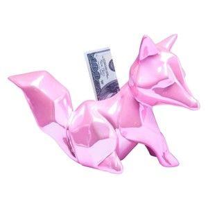 Růžová kasička Kare Design Foxy Glossy
