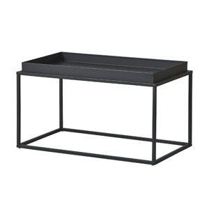 Černý kovový konferenční stolek Intersil Club NY
