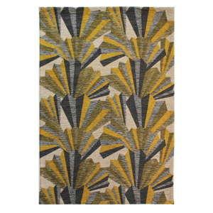 Žluto-šedý ručně tkaný koberec Flair Rugs Fanfare, 200x290cm