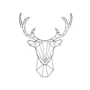 Nástěnný vešák ve tvaru jelena PT LIVING