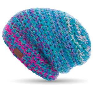 Modrá ručně háčkovaná čepice DOKE Twister