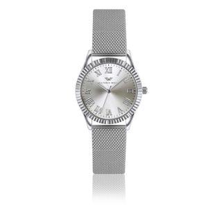 Dámské hodinky s páskem z nerezové oceli ve stříbrné barvě Victoria Walls Camille