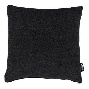Černý polštářek s příměsí bavlny House Nordic Ferrel, 45x45cm