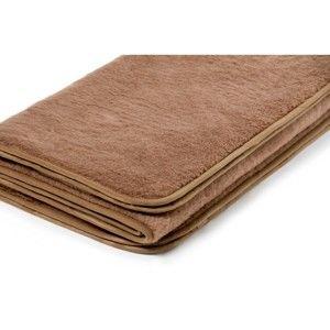 Hnědá deka z velbloudí vlny Royal Dream Camel Wool Chocolate, 160x200 cm