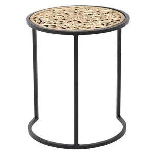 Kovový odkládací stolek InArt Metallic, ⌀38cm