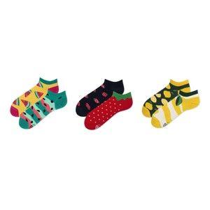 Sada 3 párů kotníkových ponožek v dárkovém balení Many Mornings Watermelon, vel.39–42