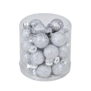 Set 28 vánočních ozdob ve stříbrné barvě Ego Dekor