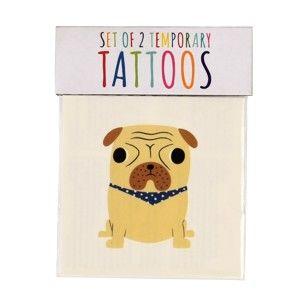 Sada 2 dočasných tetování s motivem psů Rex London Red Dogs