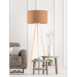 Béžová stojací lampa Woddy