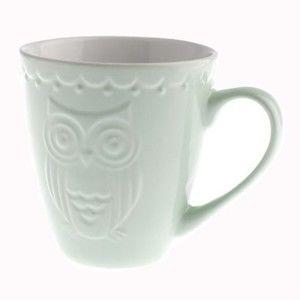 Mátově zelený keramický hrnek Dakls Owl, 200 ml