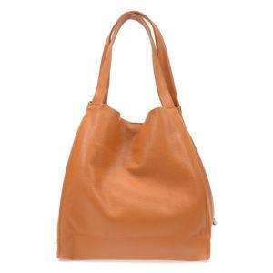 Dámská hnědá kožená kabelka Isabella Rhea Tote