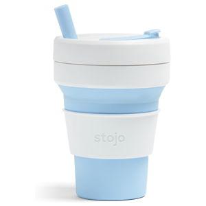 Bílo-modrý skládací hrnek Stojo Biggie Sky, 470 ml