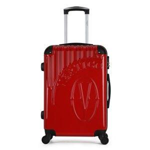 Červený cestovní kufr na kolečkách VERTIGO Valise Grand Format Duro, 89l