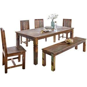 Jídelní stůl z recyklovaného mangového dřeva Skyport KALKUTTA, 120 x 70 cm