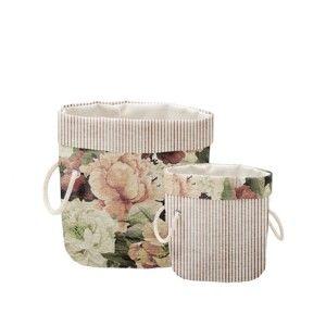 Sada 2 dekorativních košů Linen Couture Roses