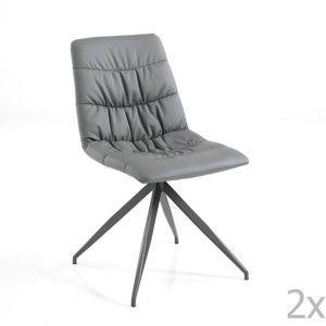 Sada 2 šedých jídelních židlí Tomasucci Chiara