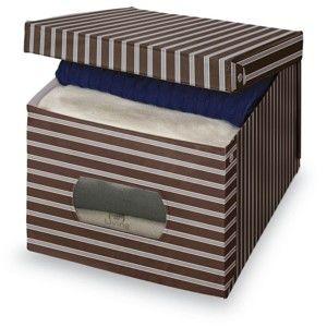 Hnědošedý úložný box Domopak Living, 31x50cm