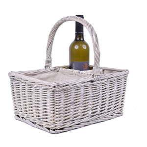 Proutěný piknikový košík s boxy na víno EgoDekor Picnic