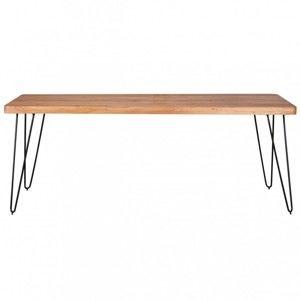 Jídelní stůl z masivního akáciového dřeva Skyport BAGLI, délka 200 cm