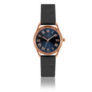 Dámské hodinky s páskem z nerezové oceli v černé barvě Victoria Walls Fae