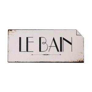 Nástěnná cedulka Antic Line Le Bain