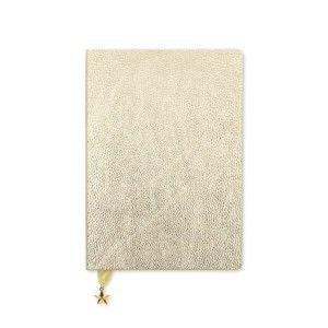 Nedatovaný diář ve světle zlaté barvě GO Stationery All That Glitters Metalic
