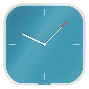 Modré nástěnné popisovací hodiny Leitz Cosy