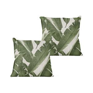Polštář s motivem palmových listů Linen Couture Palms,45x45cm